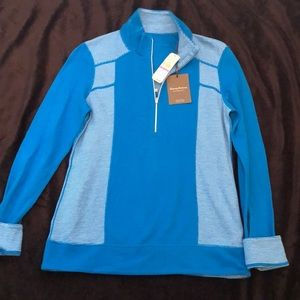 Tommy Bahama blue reversible pullover size xxs